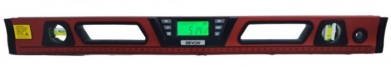 "DEVON 9409 (60cm) 電子水平尺  可測量 ""水平、垂直、坡度、角度與斜度測量"